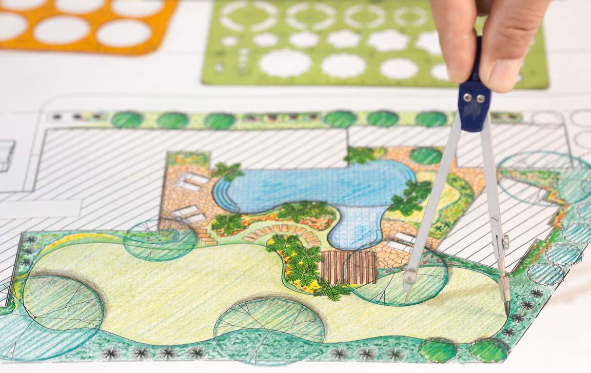 landscape architech drawing garden