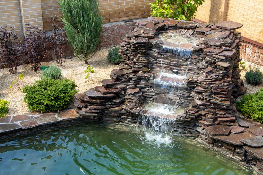 beautiful new water feature installation